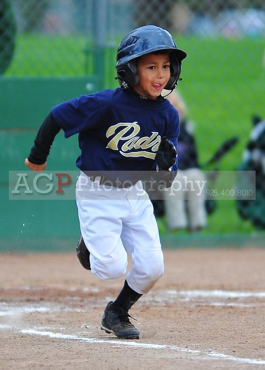 The Pleasanton National Little League Farm Padres  at the Pleasanton Sports Park Monday March 29, 2010. (Photo by Alan Greth)