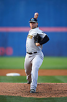 Trenton Thunder pitcher Rookie Davis (36) delivers a pitch during a game against the Binghamton Mets on August 8, 2015 at NYSEG Stadium in Binghamton, New York.  Trenton defeated Binghamton 4-2.  (Mike Janes/Four Seam Images)