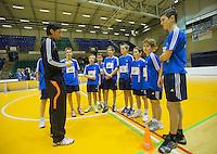 03-01-13, Rotterdam, Tennis, Selection ballkids for ABNAMROWTT,