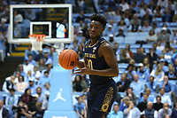 CHAPEL HILL, NC - NOVEMBER 06: Temple TJ Gibbs #10 of the University of Notre Dame turns with the ball during a game between Notre Dame and North Carolina at Dean E. Smith Center on November 06, 2019 in Chapel Hill, North Carolina.