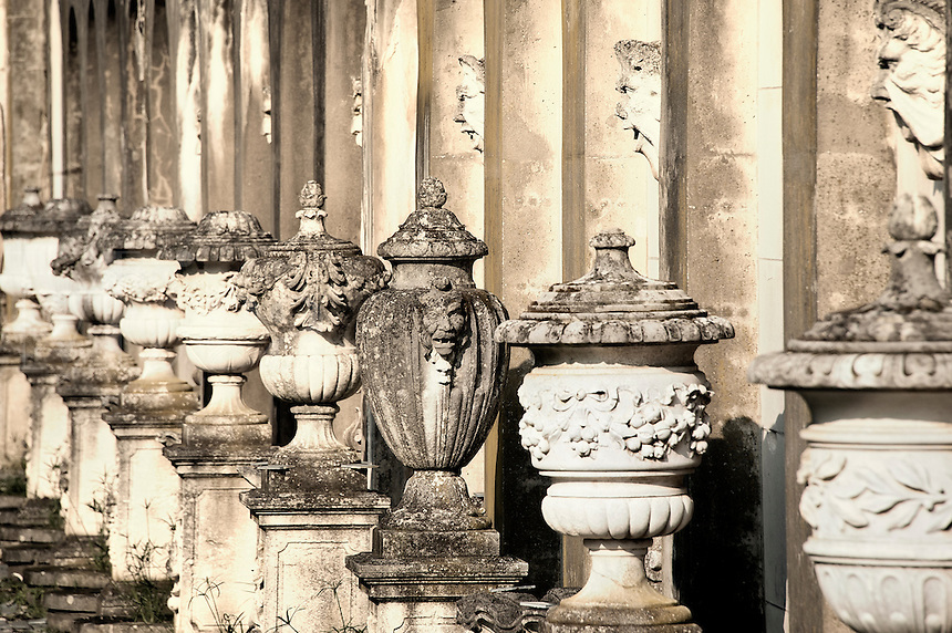 Ornate antique urns.urns.