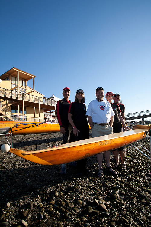 The Boys in the Boat author, Daniel James Brown, Rat Island Rowing and Sculling Club, Port Townsend, author learning about classic cedar racing boats at the 2014 Wooden Boat Festival, Olympic Peninsula, Washington State, Pacific Northwest, United States, best selling books about rowing,