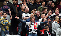 Pictured: Swansea City supporters.<br /> Sunday 12 May 2013<br /> Re: Barclay's Premier League, Manchester City FC v Swansea City FC at the Old Trafford Stadium, Manchester.