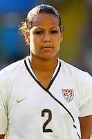 USA's Toni Pressley during the FIFA U20 Women's World Cup at the Rudolf Harbig Stadium in Dresden, Germany on July 14th, 2010.