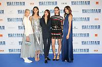 SASHA LUSS, PAULINE HOAREAU, AYMELINE VALADE, PAULINE SERREAU, CAMILLE SERREAU - AVANT-PREMIERE DU FILM 'VALERIAN ET LA CITE DES MILLES PLANETES' A LA CITE DU CINEMA, SAINT-DENIS, FRANCE, LE 25/07/2017.