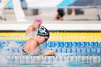 Santa Clara, California - Friday June 3, 2016: Morganne McKennan races the 100 LC Meter Breaststroke in the B final.