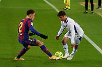 29th December 2020; Camp Nou, Barcelona, Catalonia, Spain; La Liga Football, Barcelona versus Eibar;  Inui SD Eibar midfielder takes on Sergino Dest FC Barcelona defender