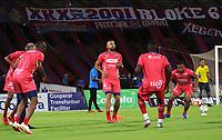 MEDELLÍN - COLOMBIA, 08-10-2021:Deportivo Independiente Medellín y el Envigado en partido por la fecha 13 como parte de la Liga BetPlay DIMAYOR II 2021 jugado en el estadio Atanasio Girardot  de la ciudad de Medellín. / Deportivo Independiente Medellin and Envigado in match for the date 13 as part of the BetPlay DIMAYOR League II 2021 played at Atanasio Girardot stadium in Medellin city. Photo: VizzorImage / Andrés Álvarez / Contribuidor