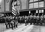 A circa 1917 photograph of the Black Watch Regimen.