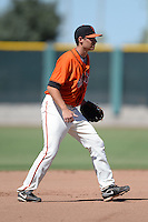 San Francisco Giants infielder Blake Miller (26) during an instructional league game against the Arizona Diamondbacks on October 3, 2013 at Giants Baseball Complex in Scottsdale, Arizona.  (Mike Janes/Four Seam Images)