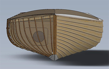 IDRA 14 hull Computer drawing