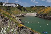 Europe/France/Bretagne/56/Morbihan/ Belle-Ile-en-Mer/Bangor: Hotel-Restaurant: Le Castel Clara  à l'anse de Port  Goulphar