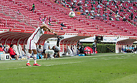 ZAPOPAN, MEXICO - MARCH 21: Julian Araujo #2 of the United States with a throw in during a game between Dominican Republic and USMNT U-23 at Estadio Akron on March 21, 2021 in Zapopan, Mexico.