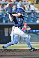 Asheville Tourists third baseman Ryan McMahon #5 swings at a pitch during a game against the Lakewood BlueClaws at McCormick Field on May 3, 2014 in Asheville, North Carolina. The BlueClaws defeated the Tourists 7-4. (Tony Farlow/Four Seam Images)