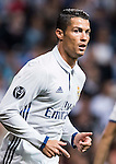 Cristiano Ronaldo of Real Madrid looks on during their 2016-17 UEFA Champions League match between Real Madrid vs Sporting Portugal at the Santiago Bernabeu Stadium on 14 September 2016 in Madrid, Spain. Photo by Diego Gonzalez Souto / Power Sport Images