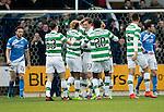 St Johnstone v Celtic…05.02.17     SPFL    McDiarmid Park<br />Liam Henderson celebrates his goal<br />Picture by Graeme Hart.<br />Copyright Perthshire Picture Agency<br />Tel: 01738 623350  Mobile: 07990 594431
