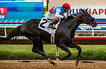 DEL MAR, CA  AUGUST 29: #2 Medina Spirit ridden by John Velasquez, in the stretch of the Shared Belief Stakes on August 29, 2021 at Del Mar Thoroughbred Club in Del Mar, CA. (Photo by Casey Phillips/Eclipse Sportswire/CSM)