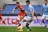 Gaetano Castrovilli of ACF Fiorentina and Sergej Milinkovic-Savic of SS Lazio compete for the ball during the Serie A football match between SS Lazio and ACF Fiorentina at Olimpico stadium in Roma (Italy), January 6th, 2021. Photo Andrea Staccioli / Insidefoto