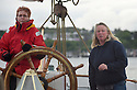 THE BESSIE ELLEN TRAVEL FEATURE.<br /> Skipper Nikki Alford guides intensive care nurse Lynn Everette, 55, as they drop anchor at Tobermory on the island of Mull, Inner Hebrides, Scotland.<br /> Photo:Clare Kendall<br /> 19/05/2016.