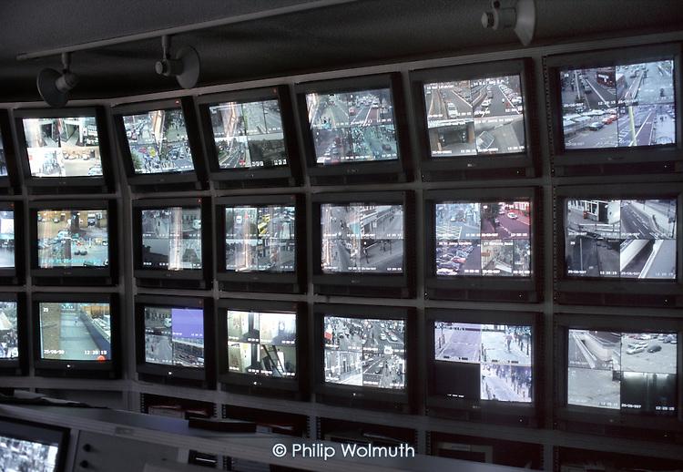 London Borough of Newham's CCTV monitoring centre.