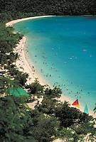 Magens Bay beach from above. St. Thomas, US Virgin Islands Magens Bay.
