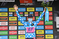 5th June 2021; La Plagne, Tarentaise, France;  CRADDOCK G Lawson (USA) of EF EDUCATION - NIPPO  podium stage 7 of the 73th edition of the 2021 Criterium du Dauphine Libere cycling race, a stage of 171km with start in Saint-Martin-Le-Vinoux and finish in La Plagne