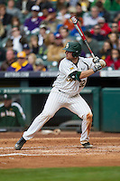Baylor Bears catcher Cameron Miller (32) at bat during the NCAA baseball game against the LSU Tigers on March 7, 2015 in the Houston College Classic at Minute Maid Park in Houston, Texas. LSU defeated Baylor 2-0. (Andrew Woolley/Four Seam Images)