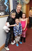 Pictured: Garry Monk (TOP) with young fans. Thursday 15 December 2011<br />