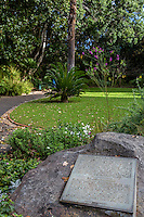 South Africa, Cape Town.  Historical Marker, The Company's Garden, established in 1652.