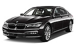 2016 BMW 7-Reeks-Berline 4 Door Sedan Angular Front stock photos of front three quarter view