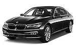 2016 BMW 7-Reeks-Berline 4 Door Sedan Angular Front stock photos of front three quarter view
