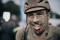 John Degenkolb's (DUI/Lotto Soudal) post-race face<br /> <br /> 118th Paris-Roubaix 2021 (1.UWT)<br /> One day race from Compiègne to Roubaix (FRA) (257.7km)<br /> <br /> ©kramon