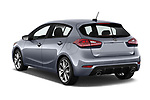 Car pictures of rear three quarter view of 2018 KIA Forte5 SX 5 Door Hatchback Angular Rear