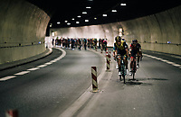 Lars Boom (NED/LottoNL-Jumbo) trying the break away in the tunnel at the start of the race<br /> <br /> Stage 7: Moûtiers > Saint-Gervais Mont Blanc (129km)<br /> 70th Critérium du Dauphiné 2018 (2.UWT)