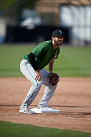 Clinton LumberKings Nick Zammarelli (34) during practice before a game against the West Michigan Whitecaps on May 3, 2017 at Fifth Third Ballpark in Comstock Park, Michigan.  West Michigan defeated Clinton 3-2.  (Mike Janes/Four Seam Images)