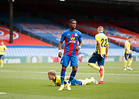 5th September 2020; Selhurst Park, London, England; Pre Season Friendly Football, Crystal Palace versus Brondby; Wilfried Zaha of Crystal Palace celebrates after scoring his sides 1st goal in the 33rd minute to make it 1-0