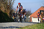 Matteo Trentin (ITA) UAE Team Emirates gives chase on Oude Kwaremtont during the 73rd edition of Kuurne-Brussel-Kuurne 2021 running 197km from Kuurne to Kuurne, Belgium. 28th February 2021  <br /> Picture: Serge Waldbillig | Cyclefile<br /> <br /> All photos usage must carry mandatory copyright credit (© Cyclefile | Serge Waldbillig)