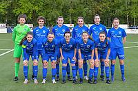 team KRC Genk ( goalkeeper Maren van Wijngaarden (50) , Lotte Van Den Steen (15) , Sterre Gielen (14) , Lorene Martin (6) , Gwen Duijsters (13) , Luna Vanhoudt (43) and Sien Vandersanden (10) , Fleur Pauwels (66) , Silke Sneyers (2) , Jorien Voets (20) , Emily Steijvers (33) ) pictured before a female soccer game between Sporting Charleroi and Eendracht Aalst on the 8th matchday in play off 2 of the 2020 - 2021 season of Belgian Scooore Womens Super League , tuesday 18 th of May 2021 in Marcinelle , Belgium . PHOTO SPORTPIX.BE | SPP | STIJN AUDOOREN