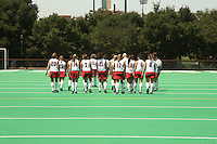 STANFORD, CA - AUGUST 14:   Devon Holman, Leigh Kaulbach, Heather Alcorn, Rachel Mozenter, Jennifer Luther, Rachel Bush, Chloe Bade, Katherine Donner, Katie Mitchell, Hillary Braun, and Xanthe Travlos of the Stanford Cardinal during picture day on August 14, 2008 at the Varsity Turf Field in Stanford, California.