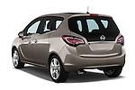 Rear Three Quarter View 2014 Opel MERIVA Cosmo 5 Door Mini MPV 2WD Stock Photo