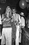 PIA GIANCARO CON RAFFAELE CURI<br /> FESTA PER I 30 ANNI DI HELMUT BERGER JACKIE O' ROMA 1974