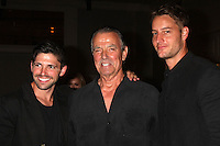 "LOS ANGELES - AUG 15:  Robert Adamson, Eric Braeden, Justin Hartley at the ""The Young and The Restless"" Fan Club Event at the Universal Sheraton Hotel on August 15, 2015 in Universal City, CA"