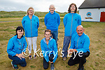 St. Brendans AC Ardfertlaunching the Banna 10k & 5k run on Friday evening in Banna and it will be held on again on Sunday August 8th. Kneeling l to r: Deirdre Courtney, Linda O'Sullivan and John Clifford. Standing l to r: Moira Horgan, Dave Kissane, Ursala Barrett.