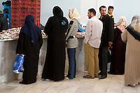 Tripoli, Libya - Traditional and Modern Dress Worn by Libyan Women,  Fish Market, Rashid Street