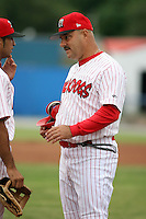 June 29th, 2007:  Mark DeJohn of the Batavia Muckdogs, Short-Season Class-A affiliate of the St. Louis Cardinals at Dwyer Stadium in Batavia, NY.  Photo by:  Mike Janes/Four Seam Images