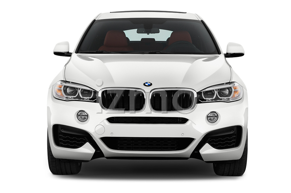 Car photography straight front view of a 2017 BMW X6 M-sportpakket 5 Door SUV Front View
