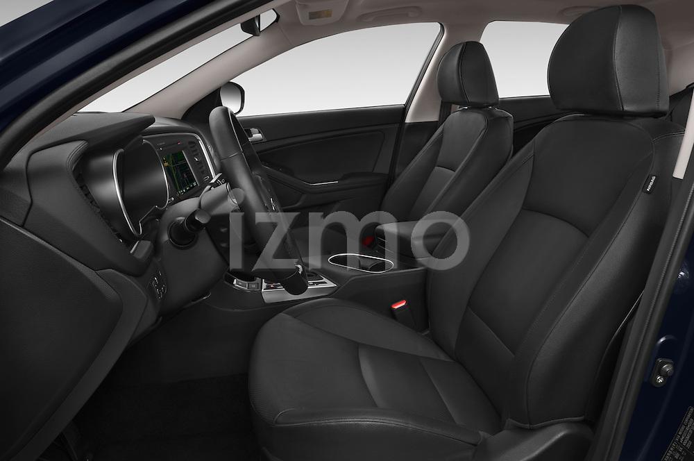Front seat view of a 2014 KIA Optima Hybrid EX 4 Door Sedan Front Seat car photos