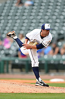 NW Arkansas Naturals pitcher Scott Alexander (18) delivers a pitch during a game against the Corpus Christi Hooks on May 26, 2014 at Arvest Ballpark in Springdale, Arkansas.  NW Arkansas defeated Corpus Christi 5-3.  (Mike Janes/Four Seam Images)