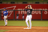 ASU Sun Devils Spencer Torkelson (20) stands on second base during an Instructional League game against the Texas Rangers at Surprise Stadium on October 6, 2018 in Surprise, Arizona. (Zachary Lucy/Four Seam Images)