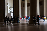 Tourists Visiting the Lincoln Memorial, Washington, DC, USA.